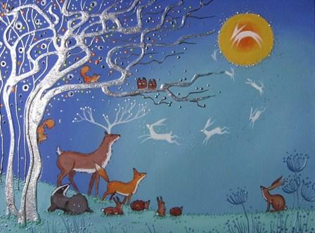 Enchanted Night by Angie Livingstone art print