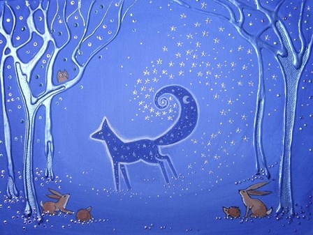 Fox Spirit Bringer Of Night by Angie Livingstone art print