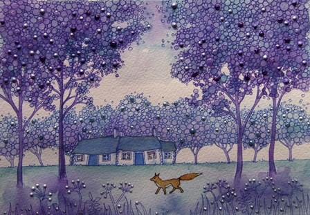 Wandering Fox by Angie Livingstone art print