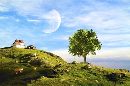 Landscape 10 by Ata Alishahi art print