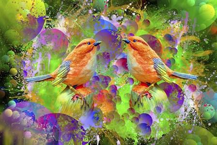 Lover Birds M2 by Ata Alishahi art print