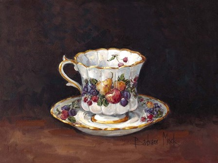 Fruit Teacup II by Barbara Mock art print
