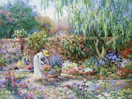 Her Garden by Barbara Mock art print