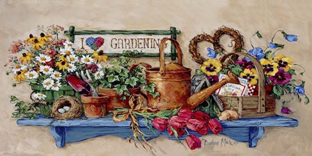 Baskets and Bird's Nest by Barbara Mock art print