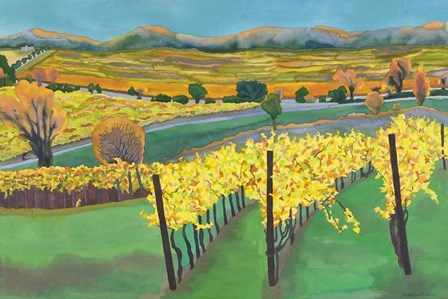 Autumn Vineyard by Carissa Luminess art print