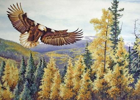 Autumn Flight by Carol J Rupp art print