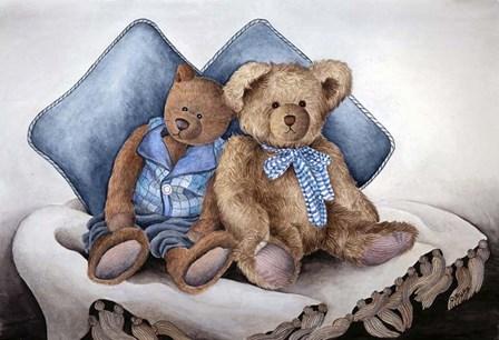 Blue Bears by Carol J Rupp art print