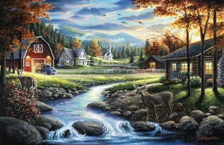 Country Living by Chuck Black art print