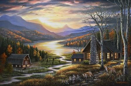 Evening Guests by Chuck Black art print
