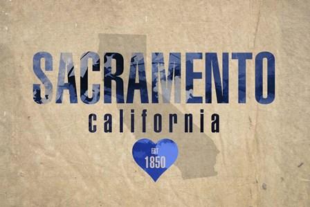 Sacramento by Red Atlas Designs art print