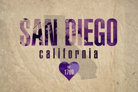 San Diego by Red Atlas Designs art print