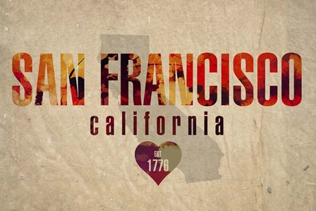 San Fran by Red Atlas Designs art print