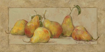 Pear Fresco by Barbara Mock art print