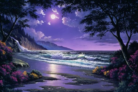 Beach at Night by Anthony Casay art print