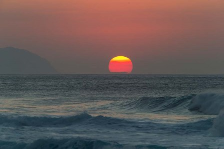 Waves in the Ocean at Sunset by Panoramic Images art print