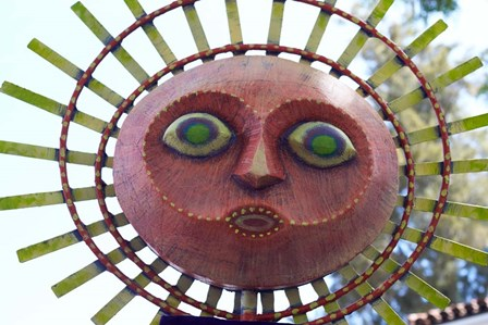Sun Mask during Summer Solstice Celebration in Santa Barbara, California by Panoramic Images art print