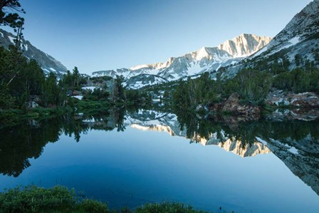 Reflection of Mountain in a River, Sierra Nevada, California by Panoramic Images art print