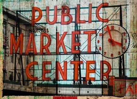 Public Market by Sandy Lloyd art print