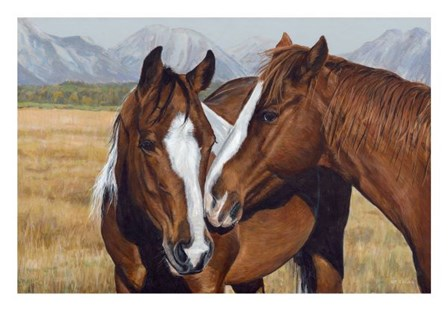 Making Friends by Terry Isaac art print