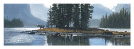 Spirit Island Moose by Terry Isaac art print