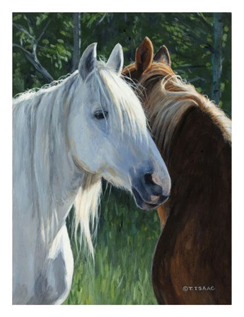 Horse Whispering by Terry Isaac art print