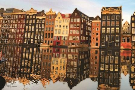 Amsterdam Houses by Dale MacMillan art print