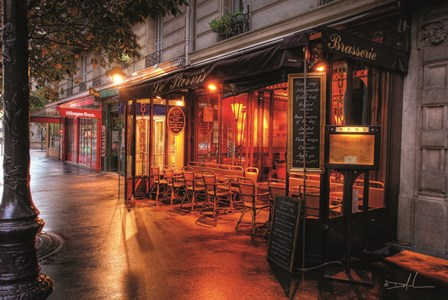 Cafe Le Parvis by Dale MacMillan art print