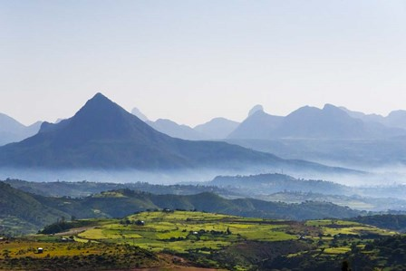 Landscape of mountain, between Aksum and Mekele, Ethiopia by Keren Su / Danita Delimont art print