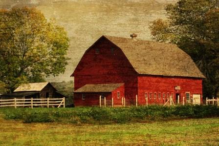 Red Barn by Graffi*tee Studios art print