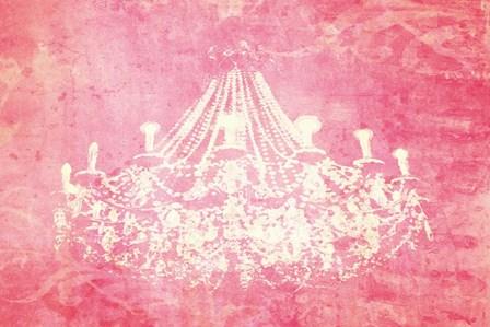 Pink Chandelier by Graffi*tee Studios art print