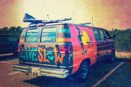 Beach Van at Sunset by Graffi*tee Studios art print