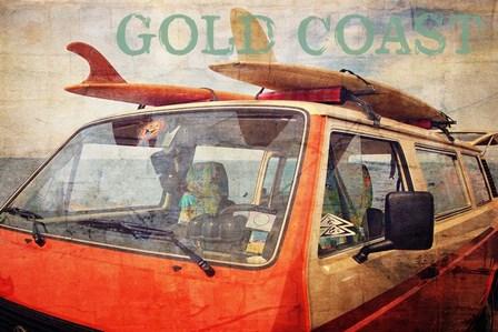 Gold Coast Surf Bus by Graffi*tee Studios art print
