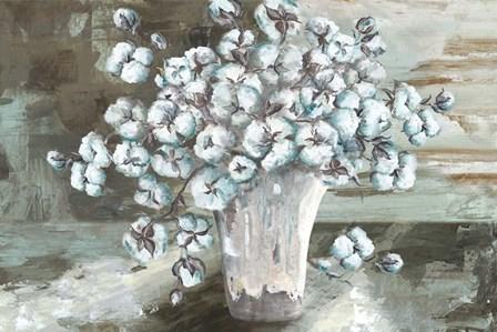 Farmhouse Cotton Bolls Still life by Tre Sorelle Studios art print