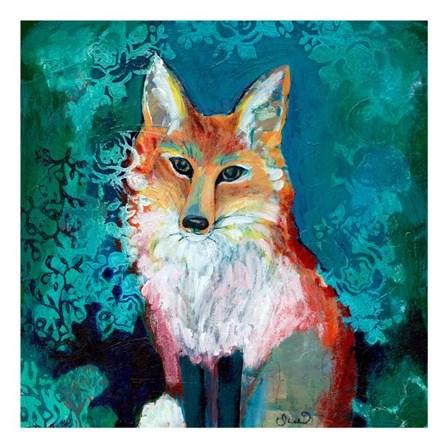Shy Fox by Jennifer Lommers art print