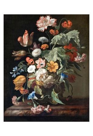 Rachel Ruysch, Still-Life with Flowers by Dutch Florals art print