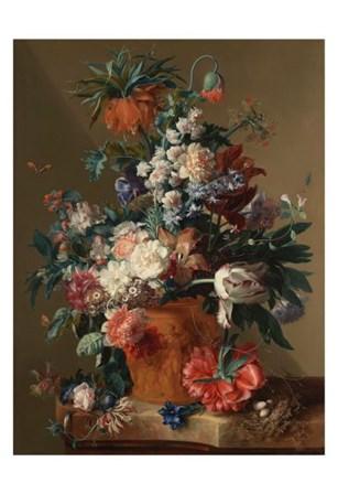 Jan van Huysum, Vase of Flowers by Dutch Florals art print