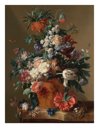 Jan van Huysum, Vase of Flowers by Dutch Florals art print