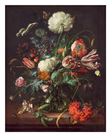 Jan Davidsz de Heem, Vase of Flowers by Dutch Florals art print