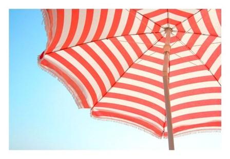 Beach Umbrella and Sky by Summer Photography art print