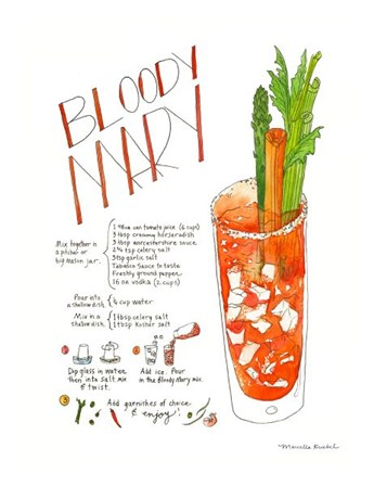 Bloody Mary by Marcella Kriebel art print