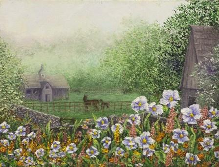 Morning Fog by Sher Sester art print