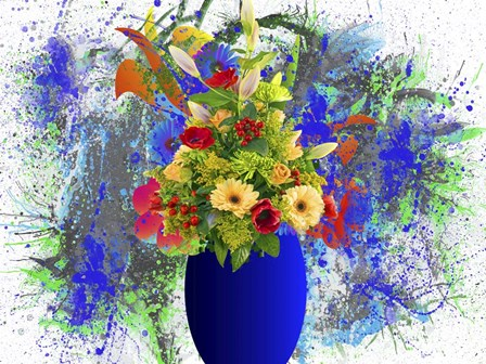 Blue Vase by Ata Alishahi art print