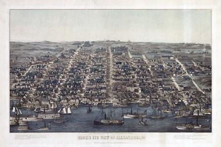 Alexandria Va Forts Built To Defend Washington - Civil War 1863 by Vintage Lavoie art print