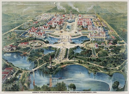 Pan-American Exposition, Buffalo Ny 1901 by Vintage Lavoie art print