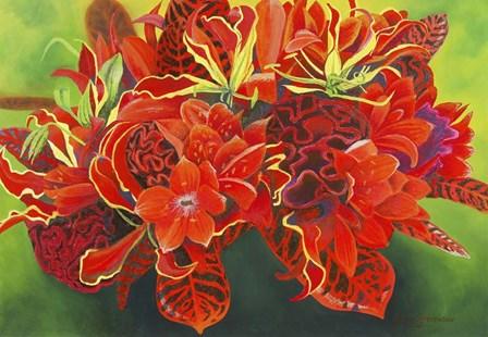 Red Vase by Graeme Stevenson art print