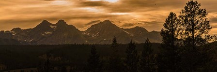 Sunset In The Sawtooth Mountains by Brenda Petrella Photography LLC art print