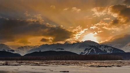 Warm Sunset On A Cool Night by Brenda Petrella Photography LLC art print