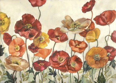 Field Of Poppies by Marietta Cohen art print