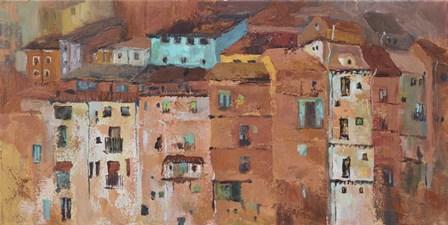 Old Spanish Town by Marietta Cohen art print
