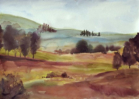 Watercolor Landscape by Marietta Cohen art print